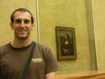 ... and yes, I jostled the other tourists out of the way to get a shot of myself with the Mona Lisa...