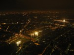 The view of Paris at night from the top was amazing.