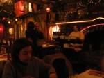 After a nice day spent in a church, we had dinner at an eerie restaurant.