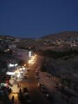 The modern day town at Petra at night.