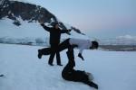 ..as well as snow acrobatics!