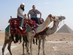 We rode camels out into the desert to get better views of the 9 pyramids.