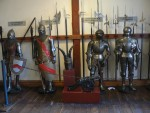 The castle had a large collection of medieval armor.