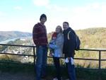 Me and the Swetlands: Luke, Jenny and little Paul.