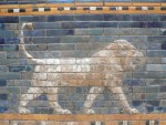 A closeup of a relief on the Ishtar Gate.