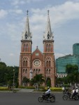 This is one of the landmarks of Ho Chi Minh, the Notre Dame cathedral.  It was modeled after the one in Paris.