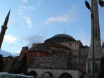 The Haghia Sophia was originally built as a christian church, finished in 537.  The four minarets were added when it was converted into a mosque in 1453.