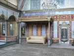 This is the outer living area of the sultan where he would entertain guests surrounded by his many wives and harem.