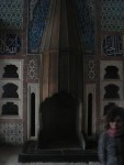 This is the fireplace in the sultans bedroom.  Every inch of wall was covered with ornate tiles.