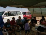 Chillin out at Nadim's semi-permanent camp site out in the dunes