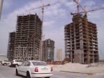 crazy construction in Doha's West Bay