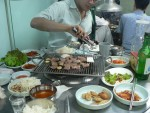 Arnold was also staying at the same guesthouse, we went out together for a nice Korean barbecue dinner.