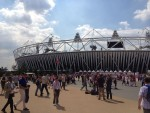 I took a walk to see the Olympic Stadium where I would be watching Track and Field the next night - woo-hoo!