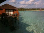 I rented a villa on stilts out over the ocean - it was incredible!