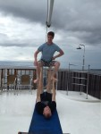 Of course we had to get in a bit of boat acro. We got rained out by an incredibly intense and beautiful rainstorm.