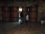 After the tour, our guide took us through this hidden entrance into the tasting room.