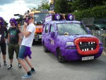 The discovery channel had a van in the race that was half muppet.
