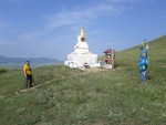 Over half of Mongolia's population is Buddhist, and you see shrines dotting the landscape.