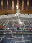This memorial of the eternal flame commemorates the 1.1 million Russian troops who died in the battle.