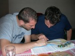 Brendan and I map out our next step.