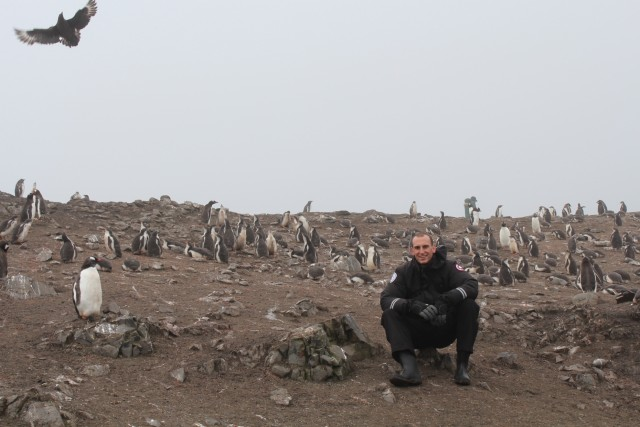 The fog and the mud made for a bit of a post-apocalyptic feel. Albatross photobomb!