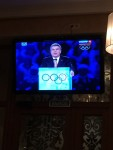 We were in Sochi for the Opening Ceremonies but we didn't have tickets. It was a lot of fun to sit in a cafe with all Russians watching the ceremonies on TV.