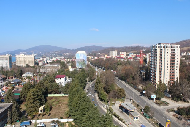 We rented an apartment in downtown Adler on airBnB. It was a cute little apartment with a great view of the mountains and the Black Sea.