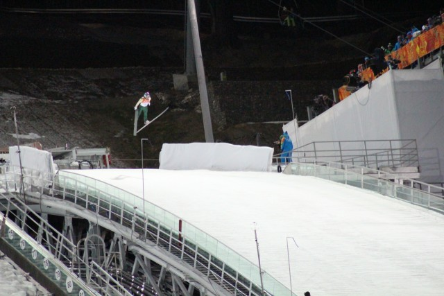 Ski jumping was held at the Russki Gorki jumping complex. These guys flew incredible distances!