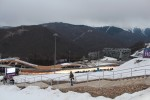 Our last event in the mountain cluster was the women's singles luge at the Sanki Sliding Center.