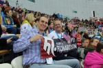 We were sitting next to the parents of top US speed skater Heather Richardson.