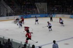 We saw Latvia vs. Switzerland. The Swiss controlled most of the game but it was 0-0 for almost the entire game. The Swiss scored with 12 seconds left and the stadium went wild!!