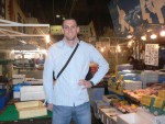 The Tsukiji Fish market in Tokyo, the largest wholesale fish market in the world.